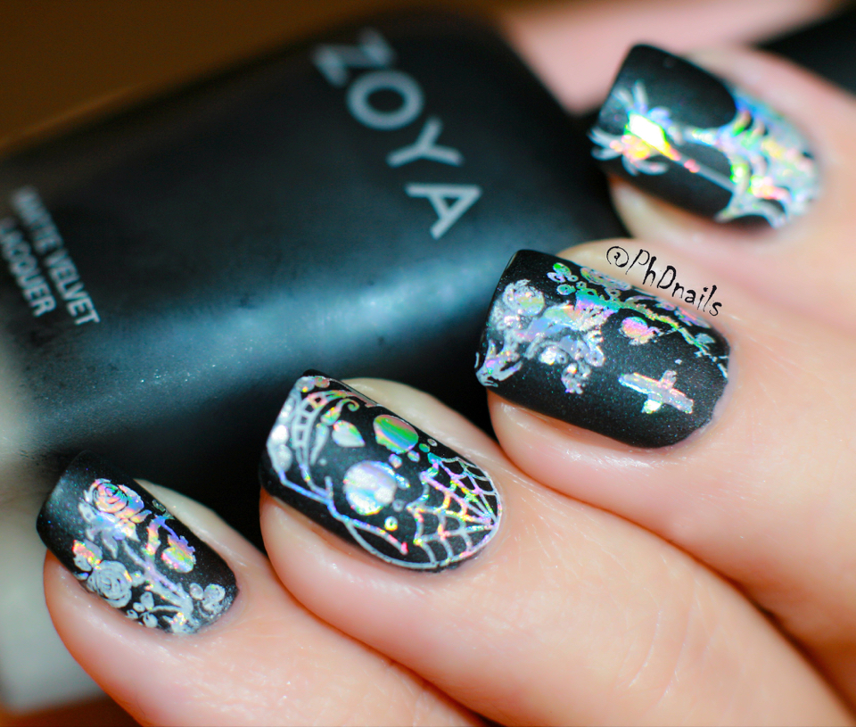 PhD nails: Gothic nail art with Zoya Domiva and ...