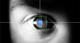 Device tracking the eye