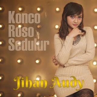 Lagu ini masih berupa single yang didistribusikan oleh label Sakuranada Lirik Lagu Jihan Audy - Konco Roso Sedulur