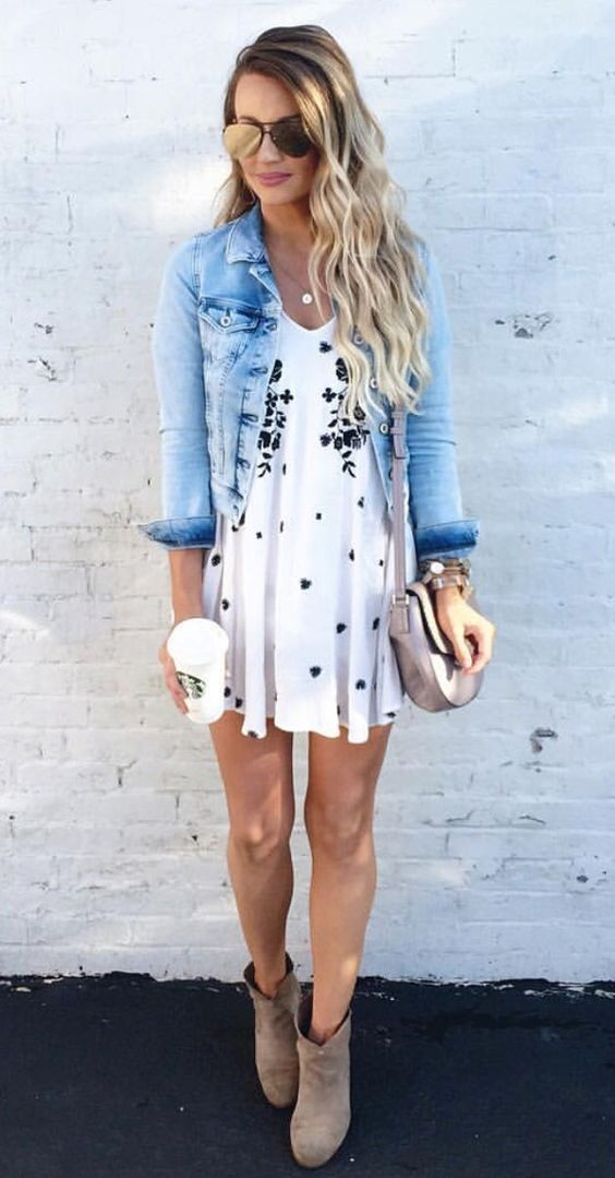 casual style addiction: denim jacket + dress