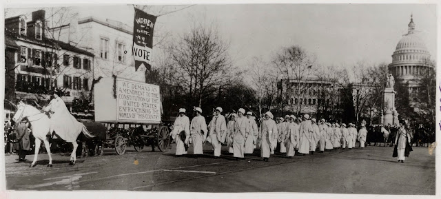 Women Marching in Suffragette Parade, Washington, DC.