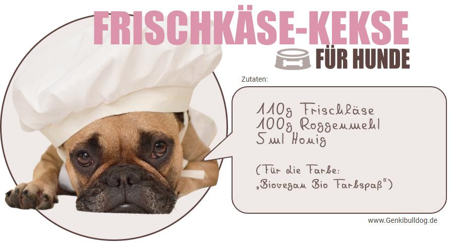 Rezept rosane Hundekekse Frischkäse Kekse für Hunde selbst backen