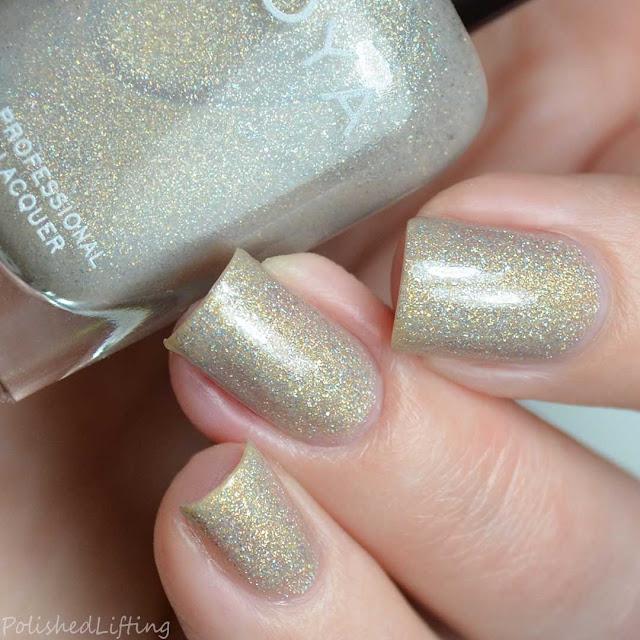 champagne holo nail polish