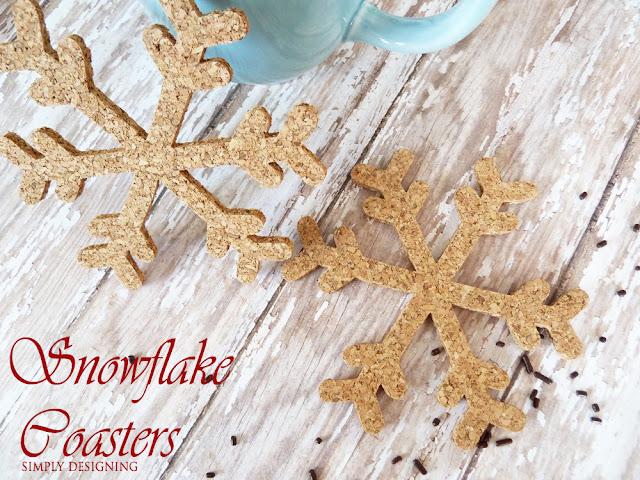 DIY Snowflake Cork Coasters | #diygift #snowflakecraft #fabulouslyfestive