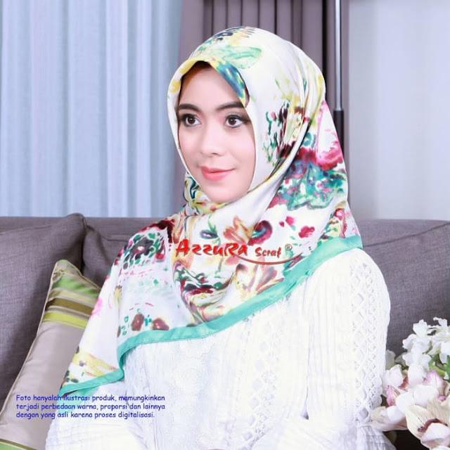 Jilbab Segi Empat Kupu Kupu Lamiz Azzura Scarf Murah Terbaru
