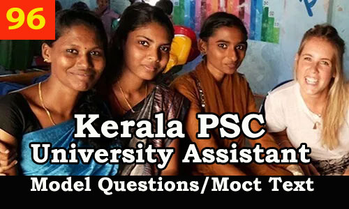 Kerala PSC Model Questions for University Assistant Exam - 96
