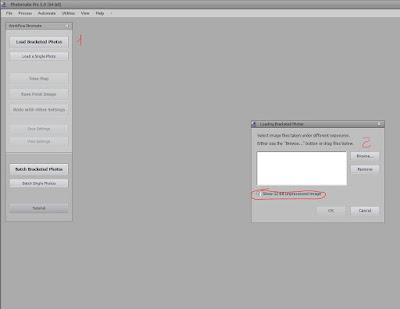 Primer paso para seleccionar las fotografías que vamos a combinar en el HDR