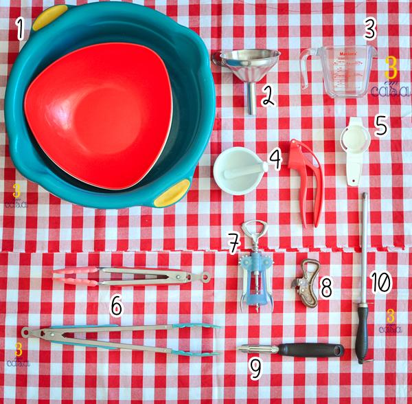 utensilios de cozinha que devemos ter em casa