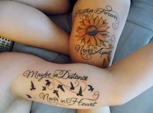 bird tattoo with quote yazılı kuş dövmesi
