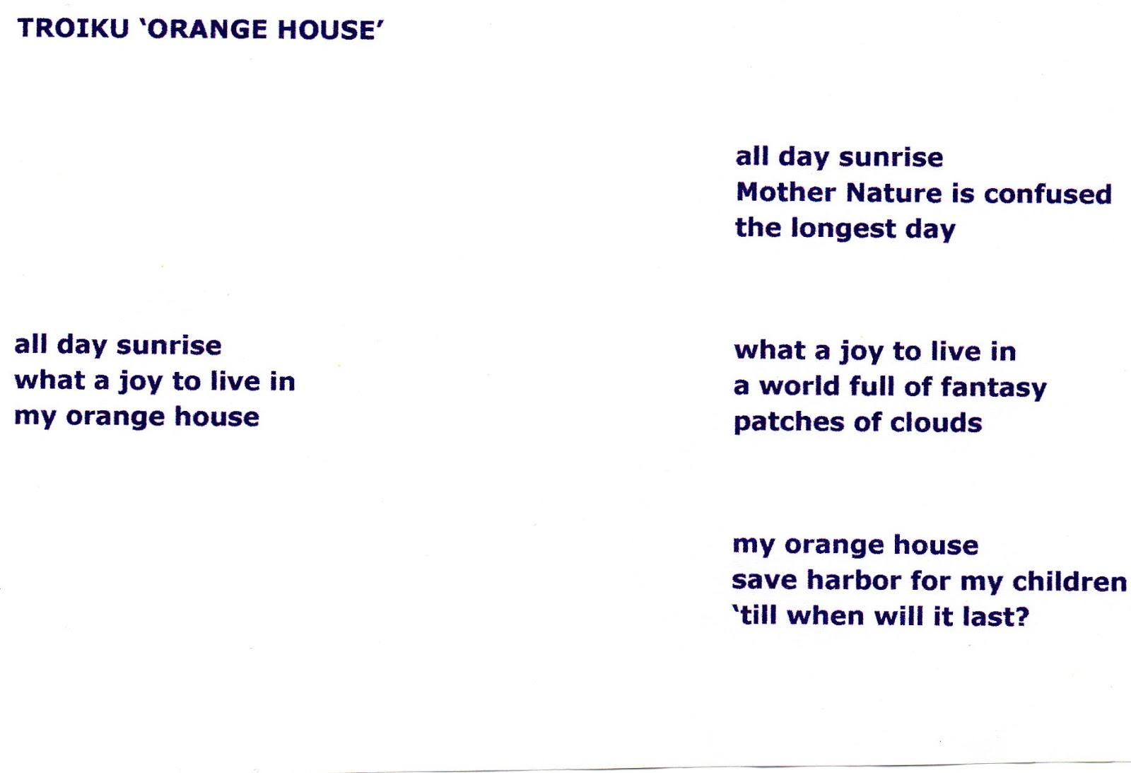 Haiku Poems Format