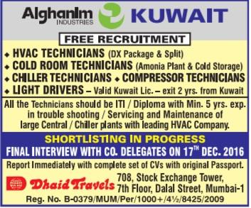 Vacancy In Alghanim Kuwait
