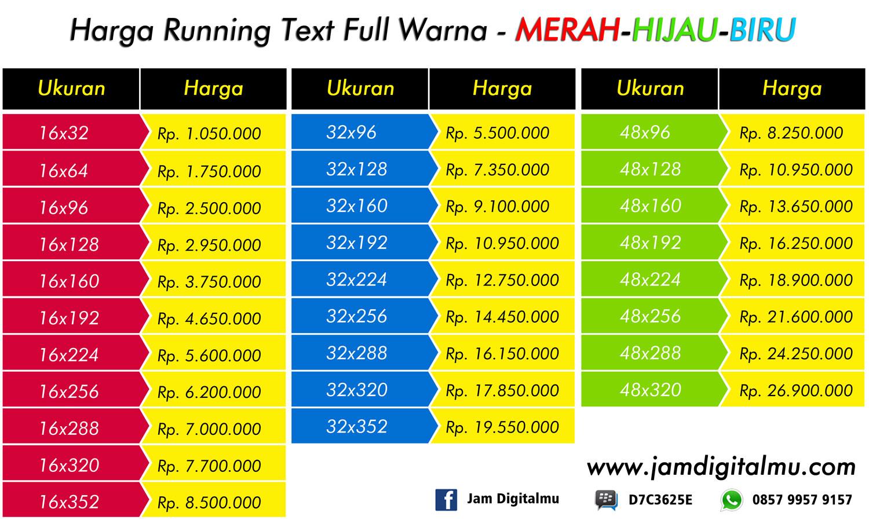 Running Text Murah Di Jogja
