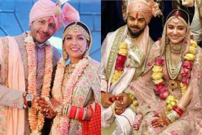 Pics: अपनी शादी पर नीति मोहन ने किया अनुष्का शर्मा के ब्राइडल लुक को कॉपी