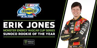Furniture Row Teammate, Erik Jones is your 2017 Monster Energy NASCAR Cup Series Rookie of the Year.