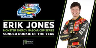 Furniture Row Teammate, Erik Jones is your 2017 Monster Energy NASCAR Cup Series Rookie of the Year.