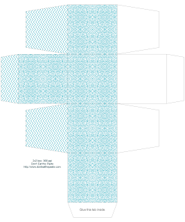 All occasional fancy tiles gift box- available in 2 sizes and 3 colors #printables #papercraft