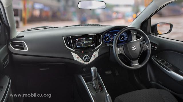 interior, stir, baleno, hatchback, baru, kursi, dashboard, kabin, dalam, penumpang