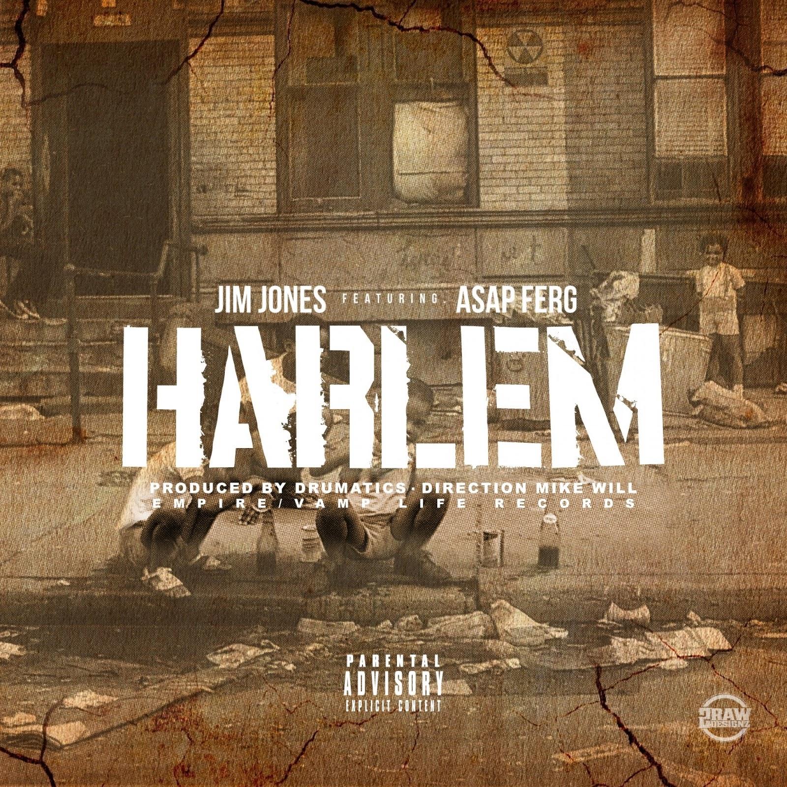 Jim Jones - Harlem (feat. A$AP Ferg) - Single Cover