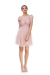 Rochie roz de nuntă din tulle