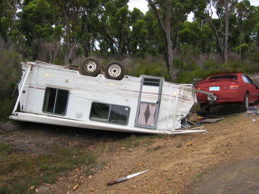 Cars Amp Caravans Overturned Caravan