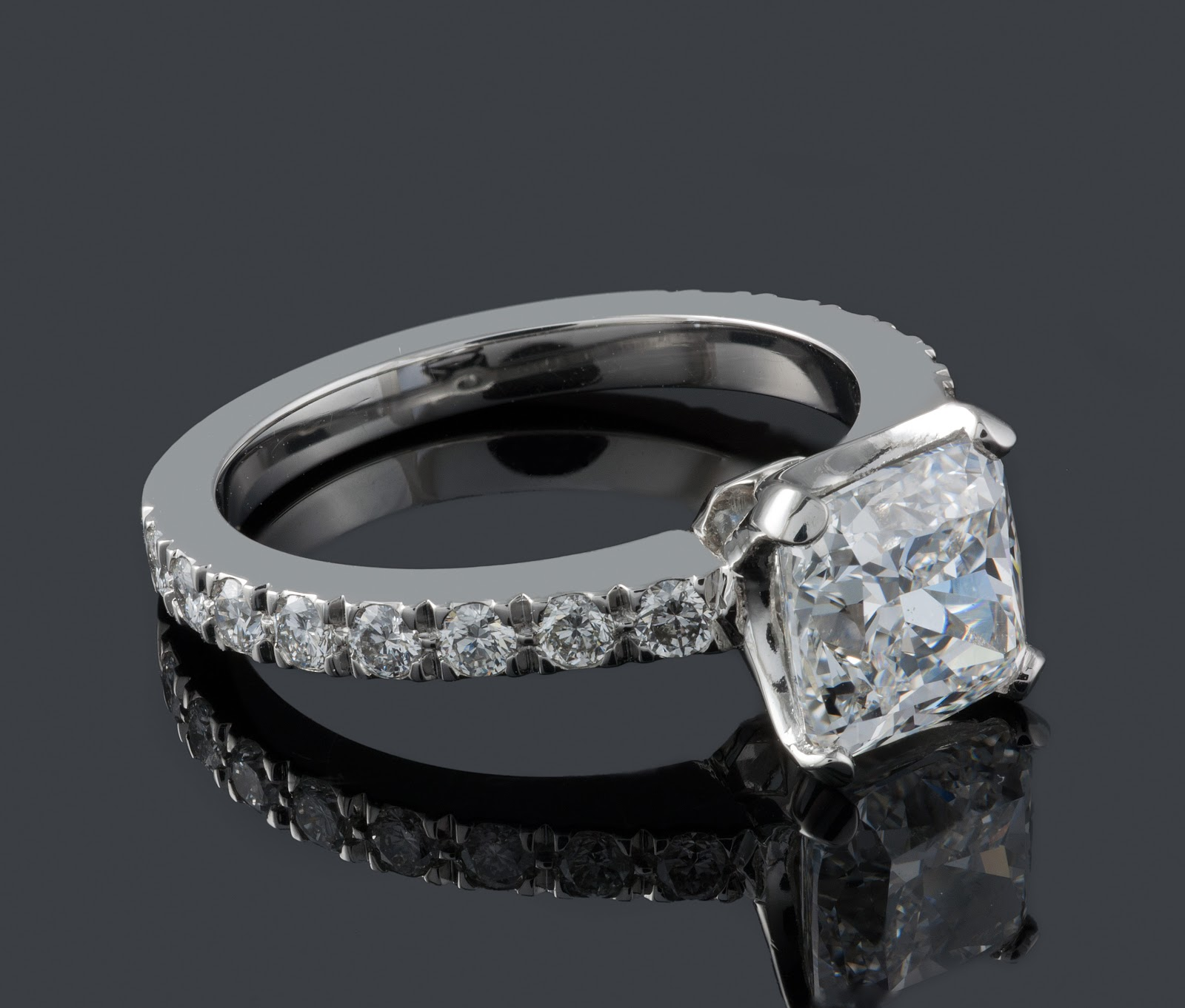 ffc4d6e357d9 1.20ct Cushion Cut Diamond set in Handmade Tiffany Novo Style Mount