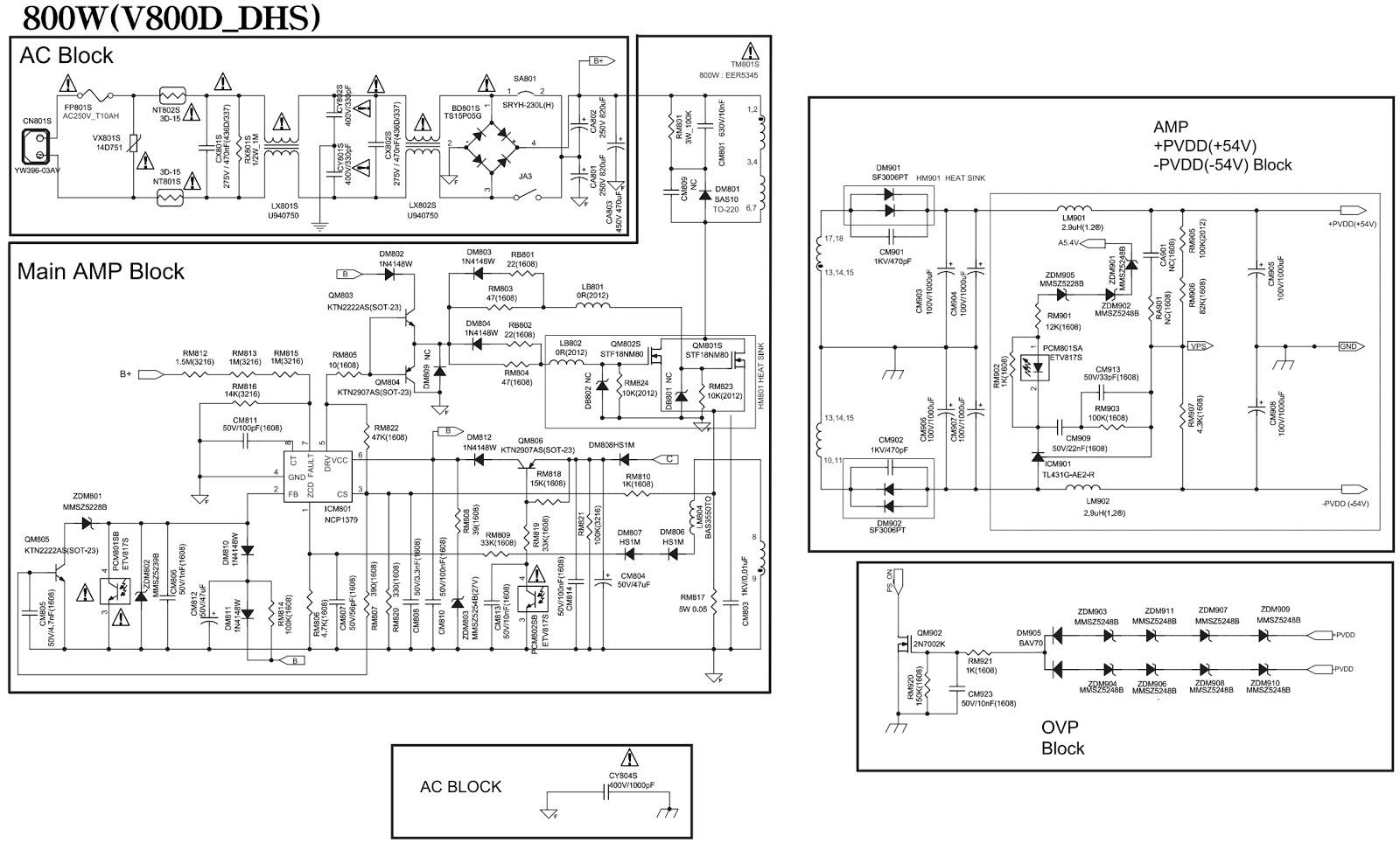 MINI- Compact System – Samsung MX-F870, MX-F870/ZP – SMPS circuit ...