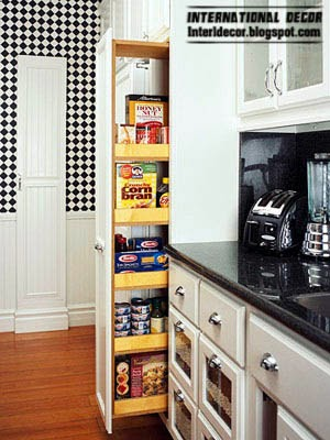 small niche compartment for storage home furnishings in the kitchen