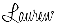 The signature of Lauren Huntley, Stampin' Up! Demonstrator for the UK, which is 'Lauren' in a black, cursive font and appears at the bottom of every blog post on www.craftyhippy.co.uk