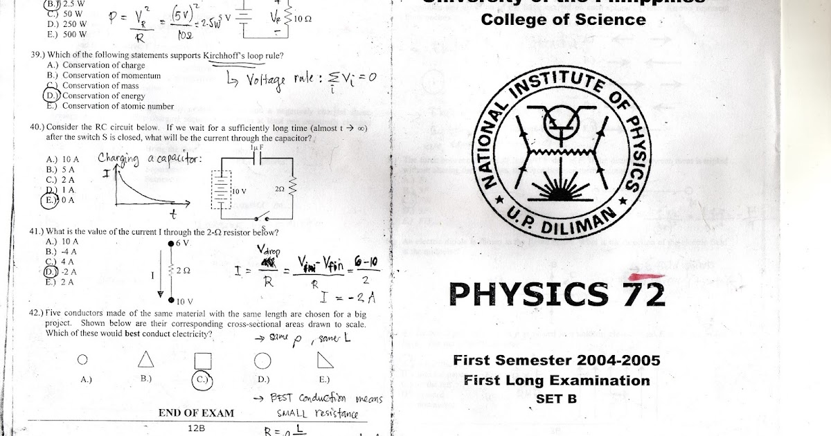 UPD Samplexes, Readings, and Materials: UPD Physics 72