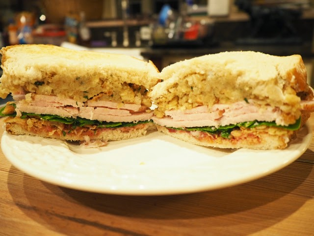 Christmas Leftovers Sandwich