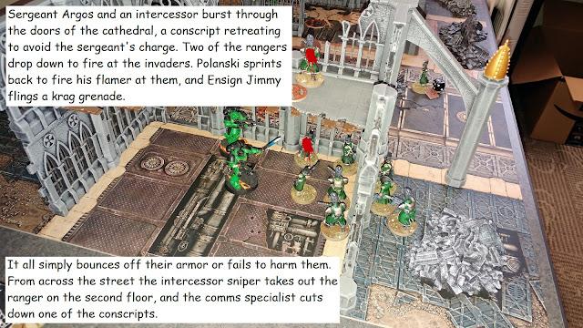 Warhammer 40k Kill Team Astra Militarum Adeptus Astartes battle report