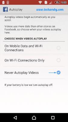 facebook auto play video
