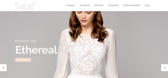 Atelier SABE suknie ślubne strona internetowa.