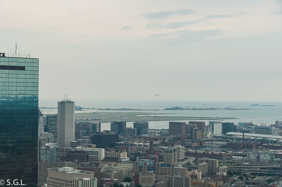 Aeropuerto Boston desde torre Prudential