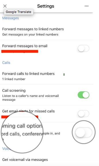 كيفية تسجيل المكالمات عن طريق تطبيق Google Voice