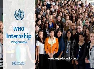 World Health Organization Graduate Internship Programme 2018