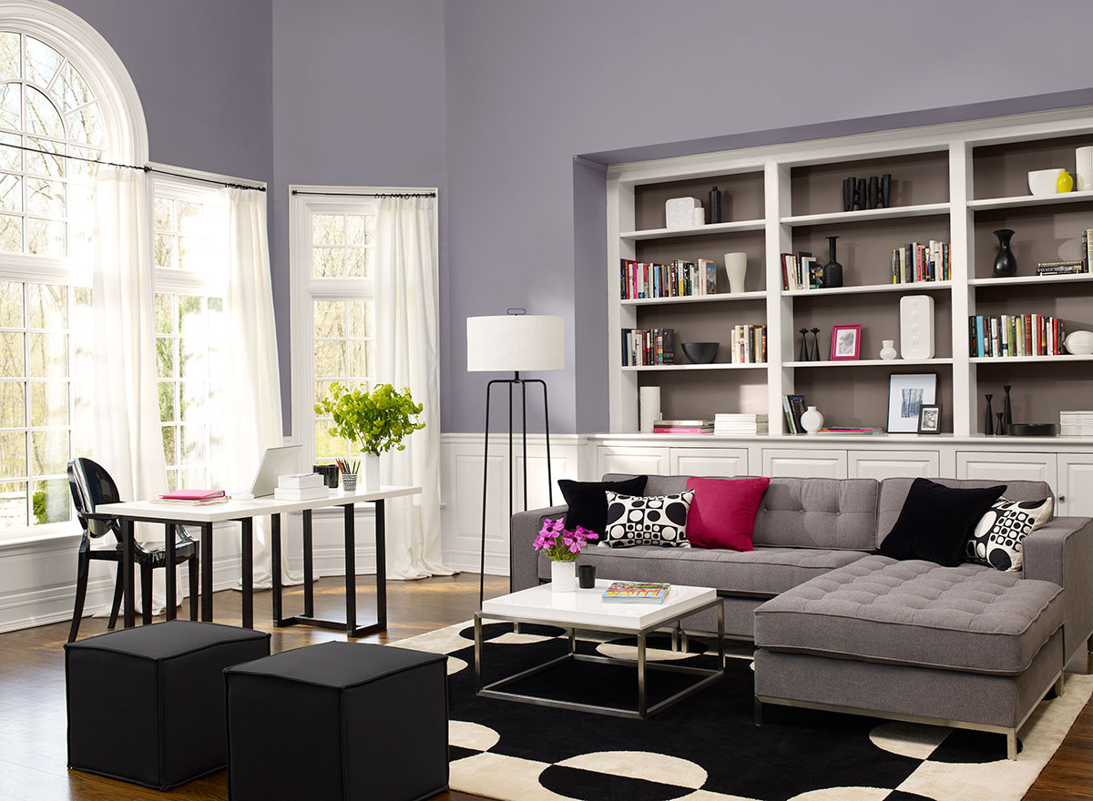 Favorite paint color benjamin moore edgecomb gray - Grey paint living room ...