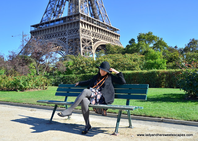 Lady at The Eiffel Tower