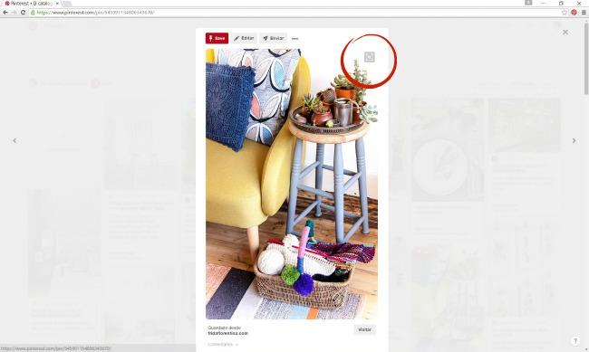 La herramienta de búsquedas visuales de Pinterest permite a los usuarios hacer búsqueda a partir de imágenes. En bizcochosysancochos.com