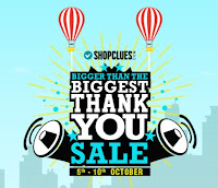 Shopclues Bigger than the Biggest Thank You Sale