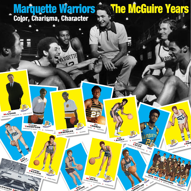 Topps 1969 football, Marquette Men's basketball, RetroCards, custom cards that never were