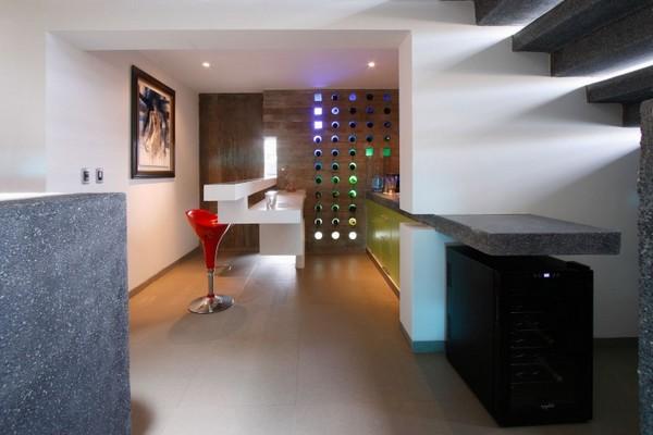 Decoraci n minimalista y contempor nea casa con fachada e for Decoracion casa minimalista