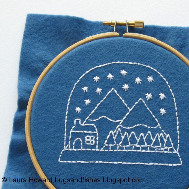 Bugs And Fishes By Lupin Free Christmas Embroidery Pattern Stitch
