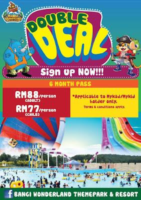 Bangi Wonderland Themepark & Resort 6 Months Pass