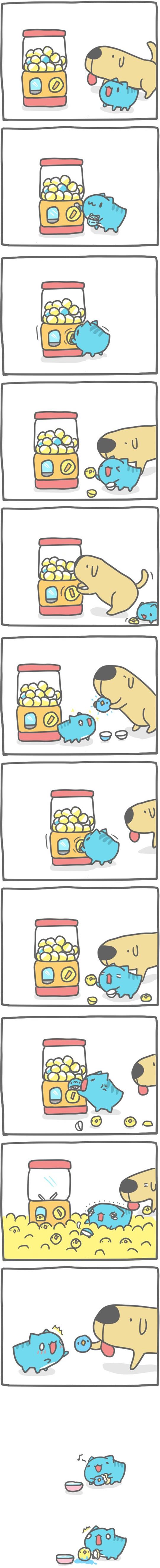 Truyện Mìn Lèo #90: Gà con màu xanh