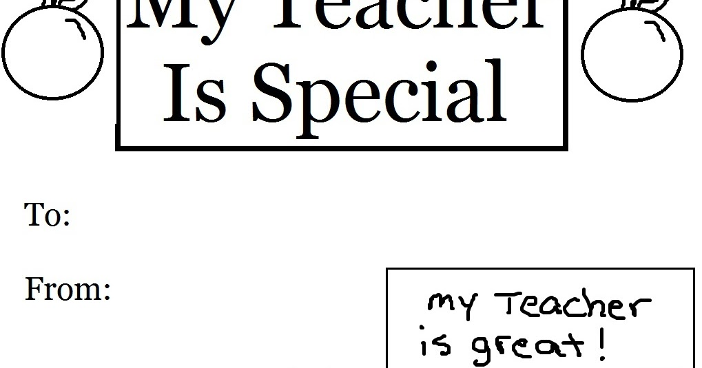 Church House Collection Blog: My Teacher Is Special