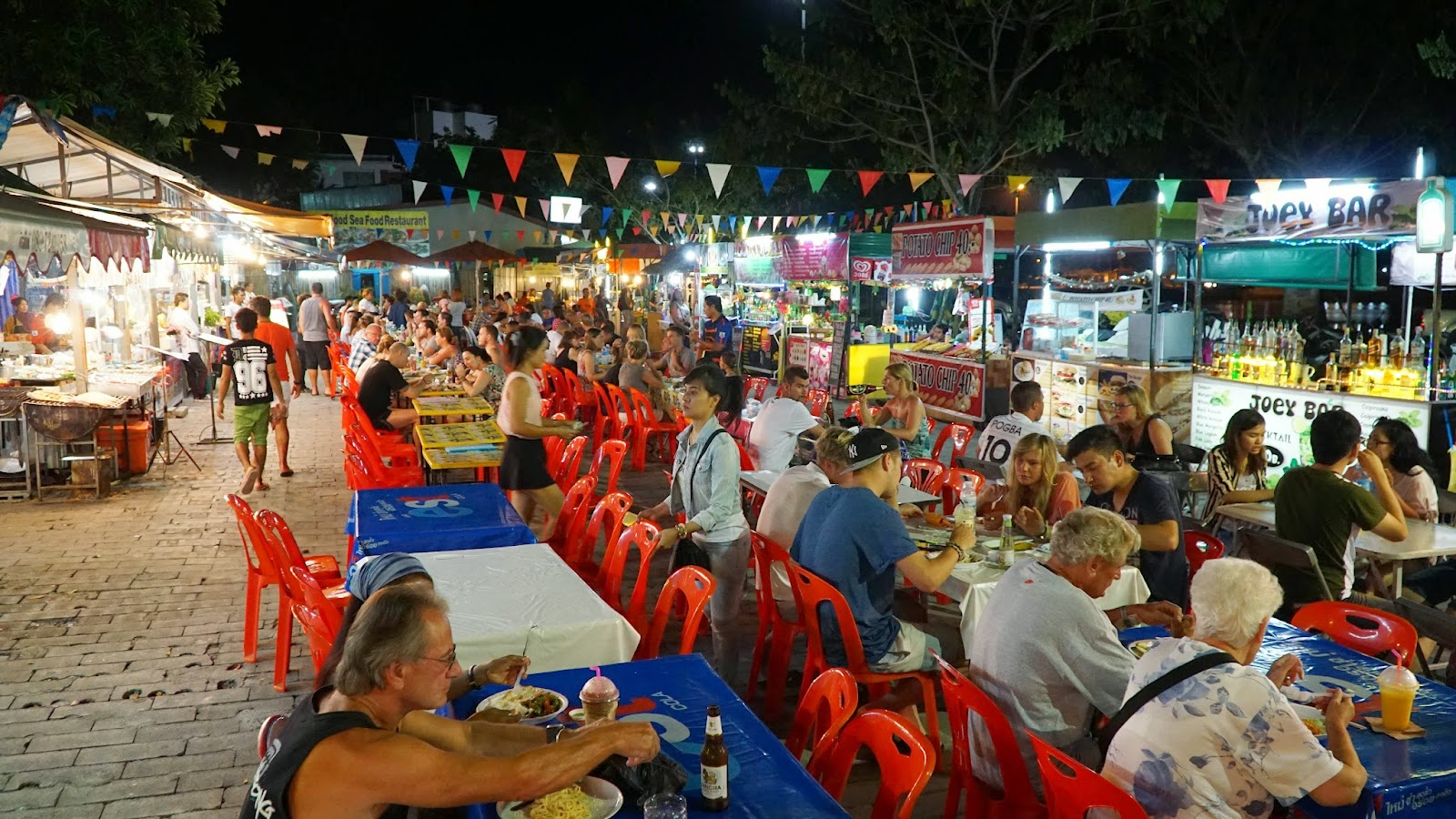 Chaweng Night Market, just across the road from where Chaweng Lake is