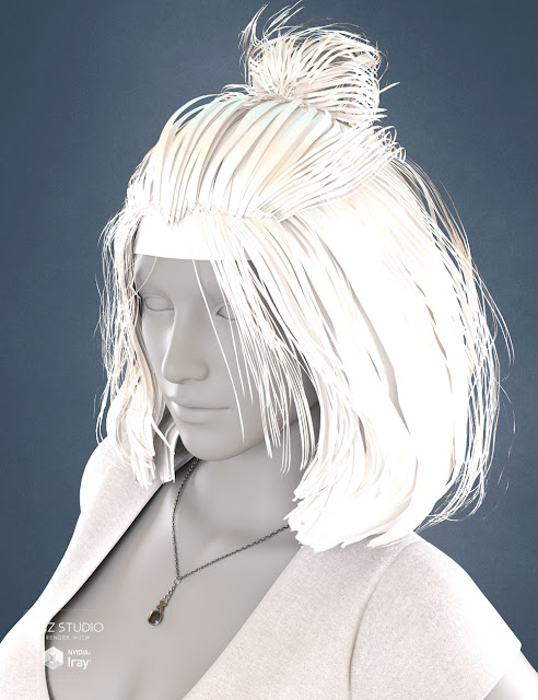 Sweet 17 Tail Hair for Genesis 3 Female