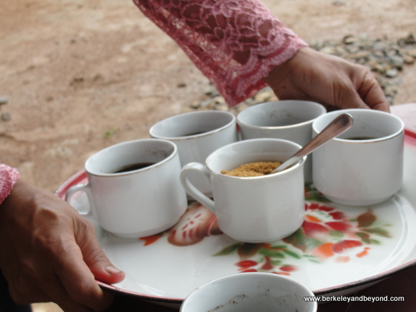 coffee service at Melo Village on Flores Island in Indonesia