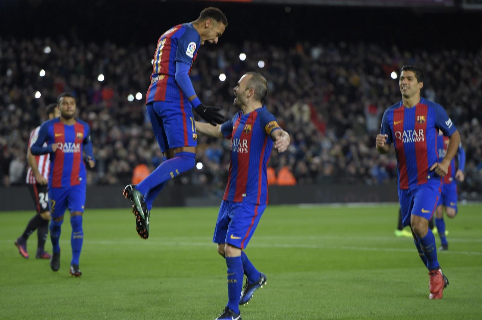 Barça fez 3 a 1 e reverteu vantagem do time de Bilbau no Camp Nou (Foto: Lluis Gene/AFP)